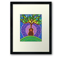 Guitar harmonic energy Framed Print