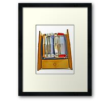 Honey you Have Parked the Car in the Wardrobe Again. Framed Print