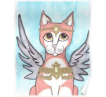 Chipper, Big Eyes Angel Cat Poster
