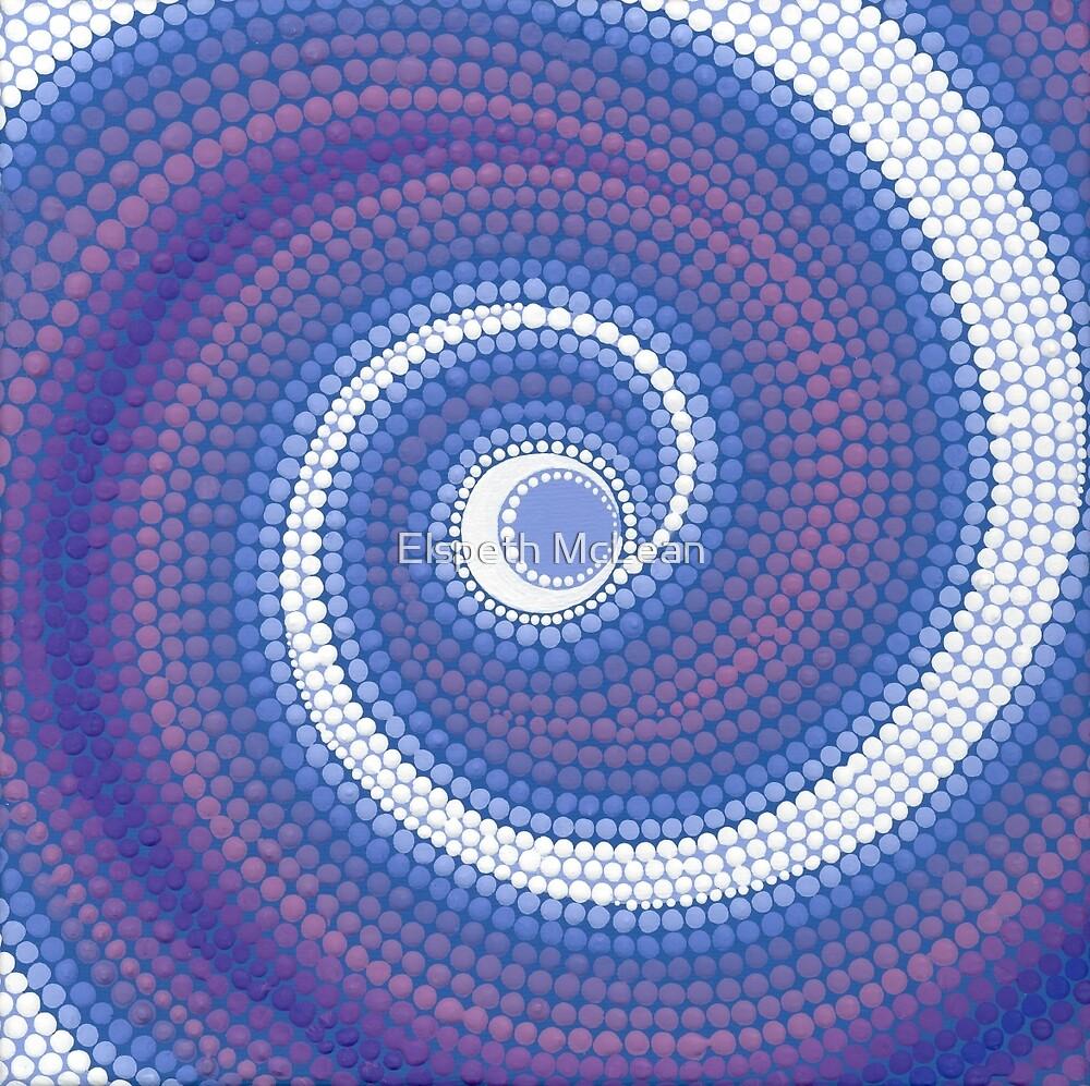 Moon swirling energy by Elspeth McLean