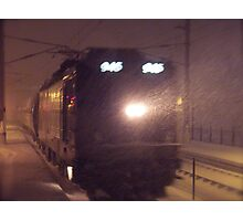 Blizzard Trains - AEM-7  © 2009 Photographic Print