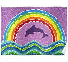 Dolphin rainbow energy Poster