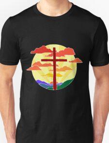 Christian Cross Sunrise T-Shirt
