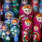 Colorful Russian Nesting Dolls Matreshka by Bruno Beach