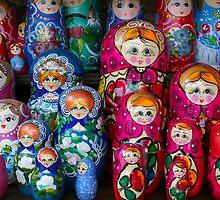 Colorful Russian Nesting Dolls Matreshka by Atanas Bozhikov NASKO
