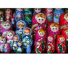 Colorful Russian Nesting Dolls Matreshka Photographic Print
