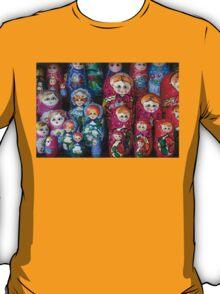 Colorful Russian Nesting Dolls Matreshka T-Shirt