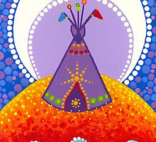 Tipi night time stories by Elspeth McLean