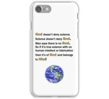God and Science iPhone Case/Skin