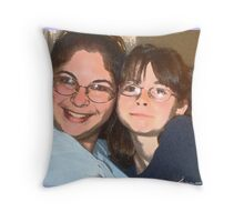 My Mom And Me Throw Pillow