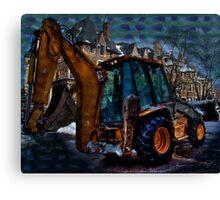 Winter Transportation Canvas Print