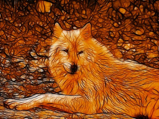 Autumn Wolf by Sandy Keeton