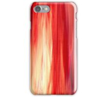 IRRADIATED RED Colorful Bold Fine Art Deep Cherry Rich Crimson Red Violet Modern Abstract Acrylic Painting iPhone Case/Skin