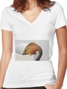 Bottoms Up! Women's Fitted V-Neck T-Shirt