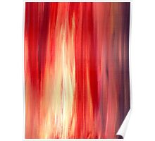 IRRADIATED RED Colorful Bold Fine Art Deep Cherry Rich Crimson Red Violet Modern Abstract Acrylic Painting Poster