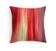 IRRADIATED RED Colorful Bold Fine Art Deep Cherry Rich Crimson Red Violet Modern Abstract Acrylic Painting Throw Pillow