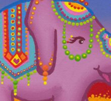Celebration of the elephant in all her regality Sticker