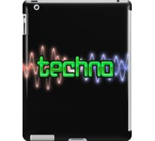 Techno Wave iPad Case/Skin
