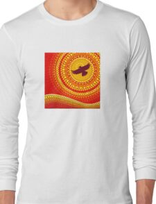 sun illuminating eagle spirit medicine Long Sleeve T-Shirt