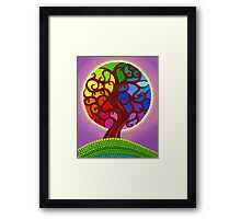 Rainbow Orb Tree of life Framed Print