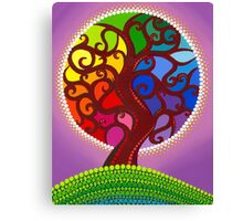 Rainbow Orb Tree of life Canvas Print