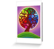 Rainbow Orb Tree of life Greeting Card