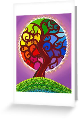 Rainbow Orb Tree of life by Elspeth McLean