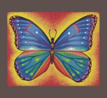 rainbow vibrant butterfly Kids Clothes