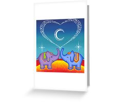 Elephant soul mates Greeting Card
