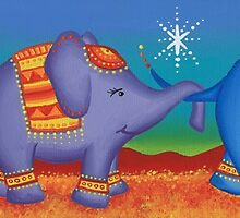 Elephant family by Elspeth McLean
