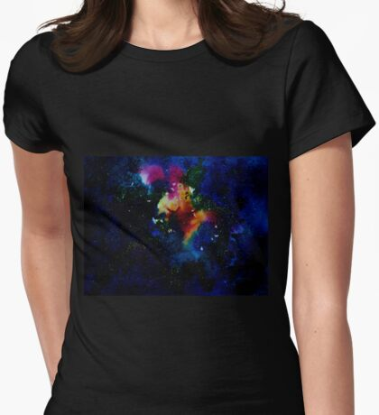 Galaxy I Womens Fitted T-Shirt