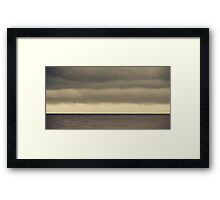 The Storm Came With Fury Framed Print