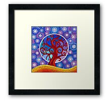 moontime illuminated orb tree Framed Print