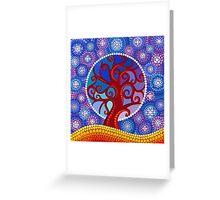 moontime illuminated orb tree Greeting Card