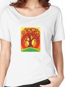 Autumn Illuminated Tree Women's Relaxed Fit T-Shirt