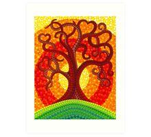 Autumn Illuminated Tree Art Print