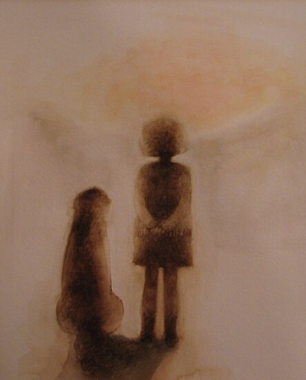 me and my dog  * special order prints: tokikoandersonart@gmail.com by TokikoAnderson