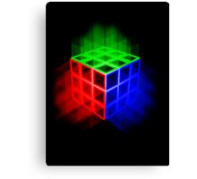 Glowing Rubix Cube Canvas Print