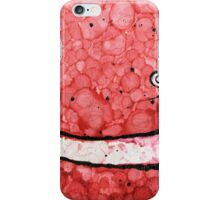 Red Grinning Smiley Face Emoji iPhone Case/Skin