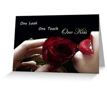 The One Kiss Greeting Card