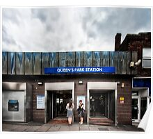 Queen's Park Tube Station Poster