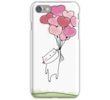 The power of... love / Cat doodle iPhone Case/Skin