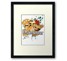 I Main Bowser - Super Smash Bros. Framed Print