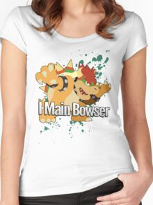 I Main Bowser - Super Smash Bros. Women's Fitted Scoop T-Shirt
