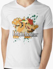I Main Bowser - Super Smash Bros. Mens V-Neck T-Shirt