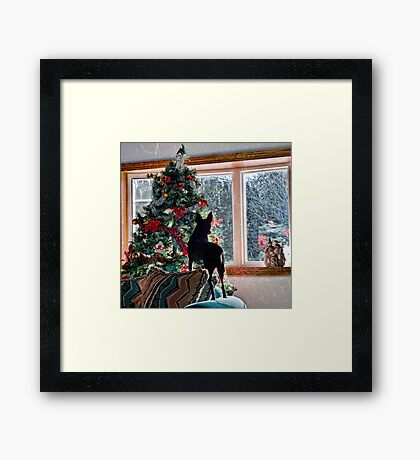 Waiting for Santa! Framed Print
