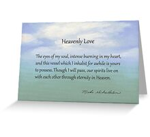 Heavenly Love Greeting Card
