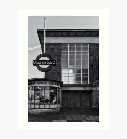 Rayners Lane Tube Station Art Print