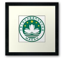 Emblem of Macau  Framed Print