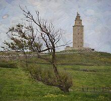 Painting A Coruña by rentedochan